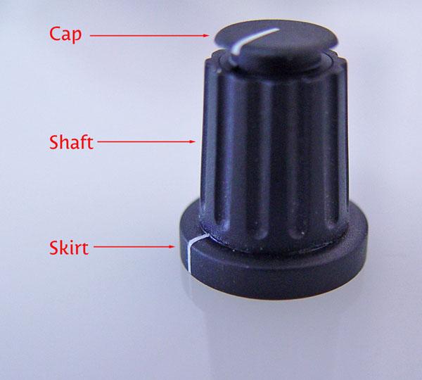collet knob parts