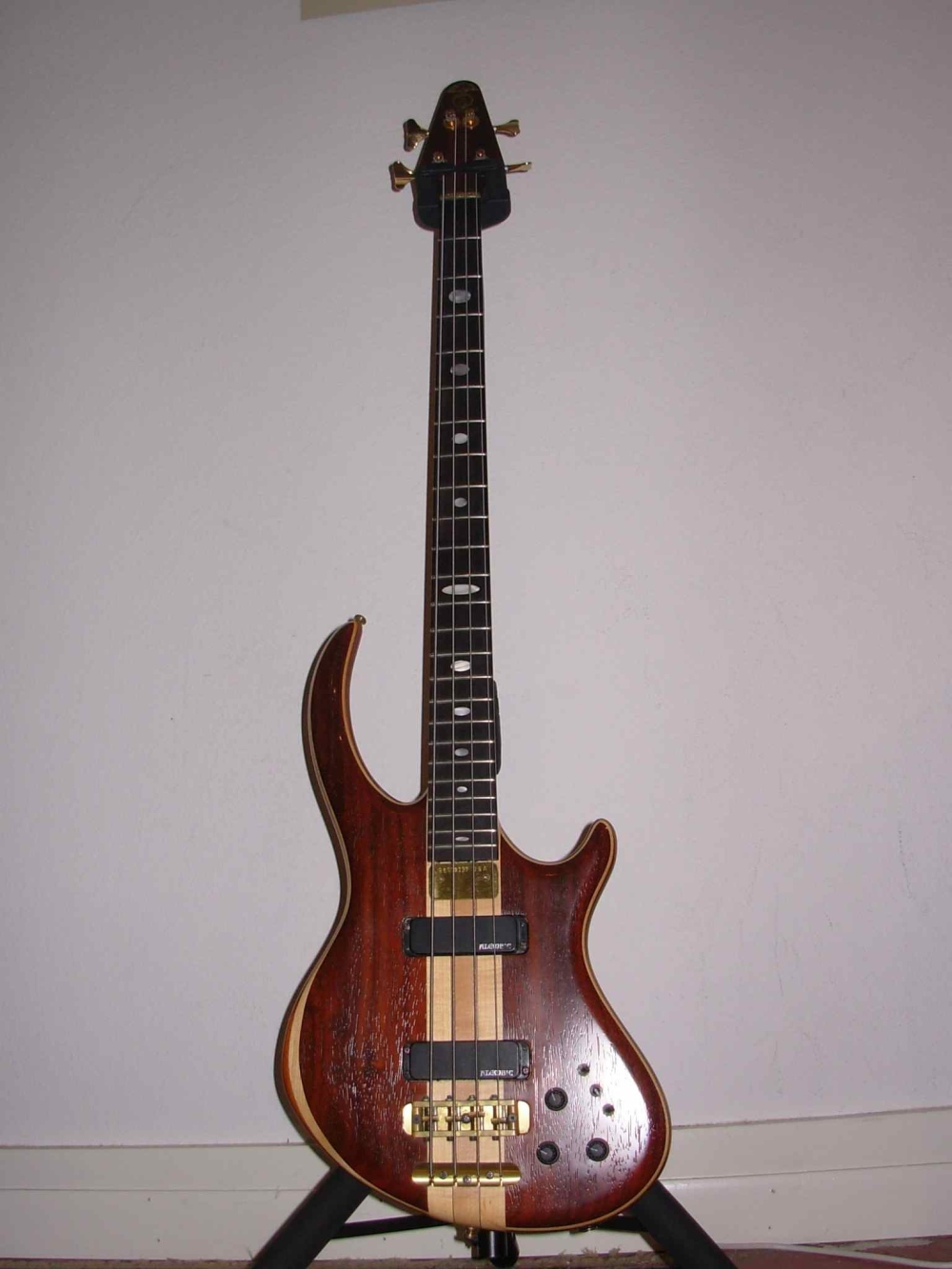 1996 Alembic Rogue 4  (Vermillion Top, Maple Accent, Walnut Body): Pure Tone!