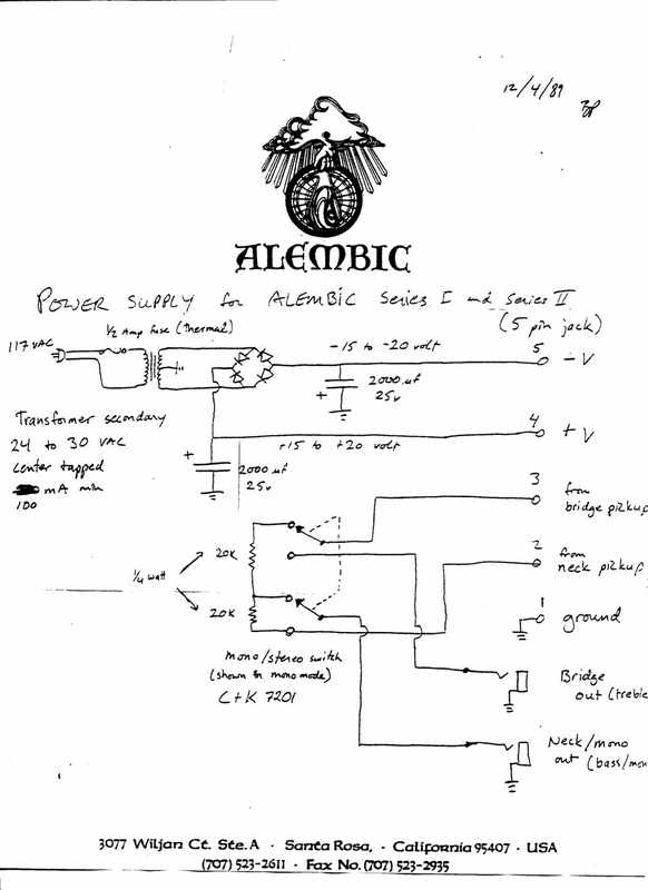 Alembic Club: Modifying the power supply on