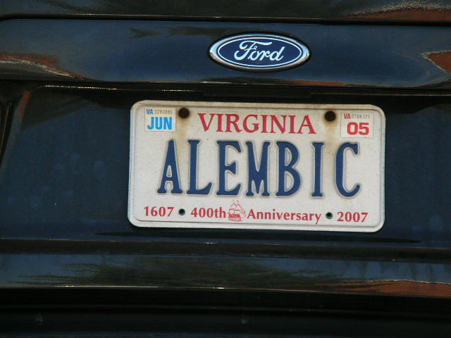 VA License Plate