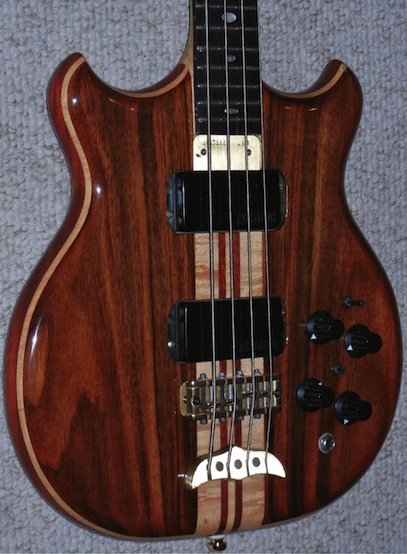 rosewood top and back mahogany core
