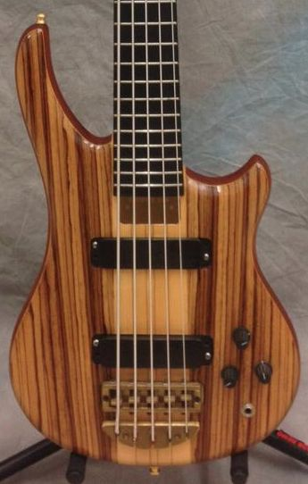 1996 Essence - Zebrawood/Maple 5-String