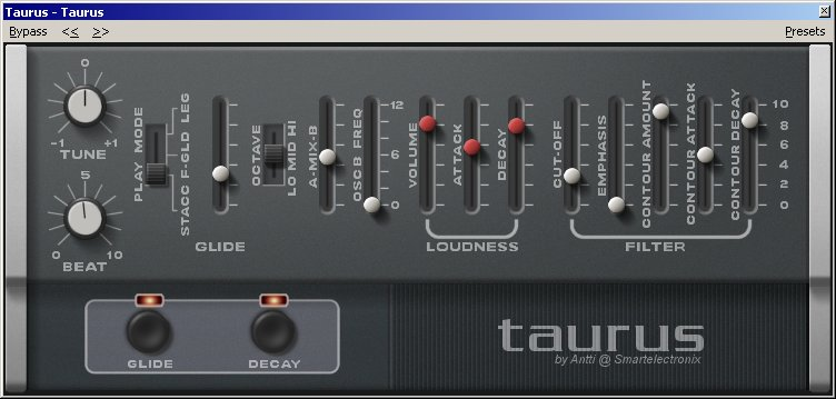 Taurus Beta 4 VST GUI