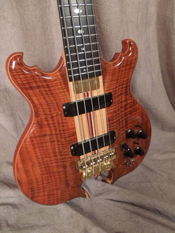 Scorpion 5 string Bass Body Front