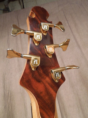 Scorpion 5 string Bass Headstock Rear