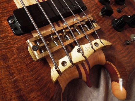 Scorpion 5 string Bass Body Bridge