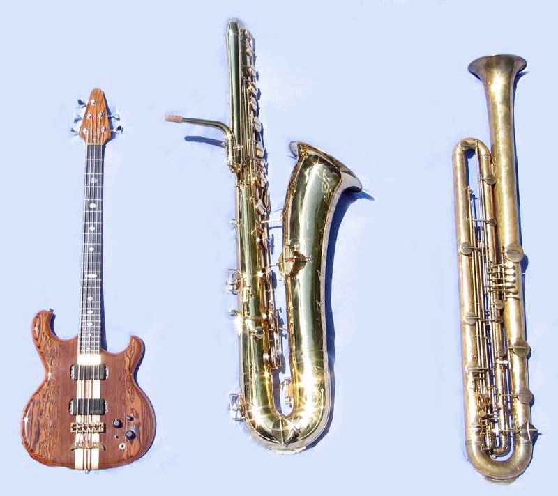 Three basses.