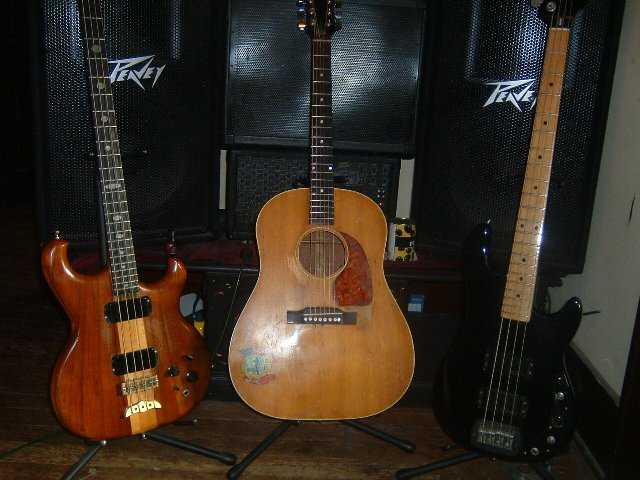 1983 soilerm 1983 G&amp;L and 1940ish Gibson acoustic&#44; J45 maybe?