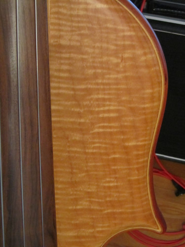 Right Upper Bout; Wood Closeup