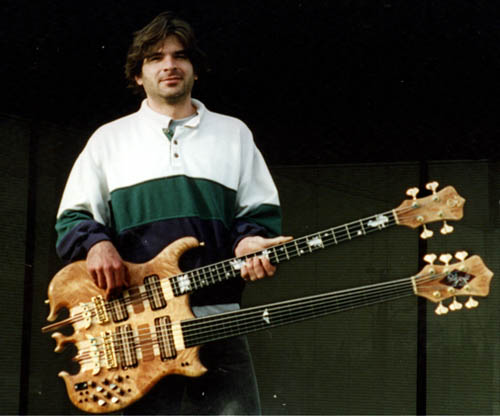 Mike - made the wooden knobs on this bass