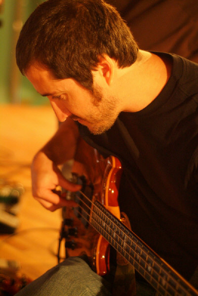 Zach playing my bass