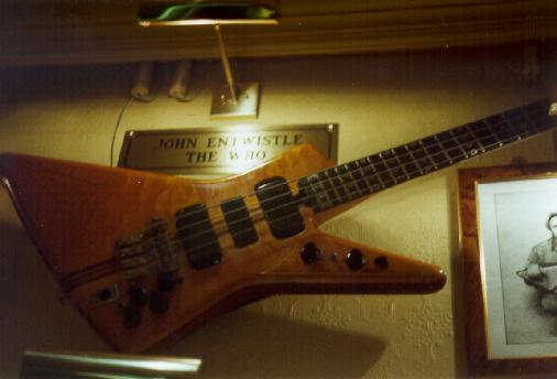 One of Johns original Spyder basses
