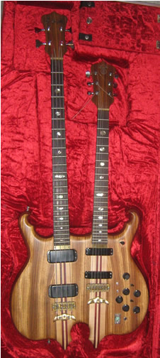 Circa 1980 Double-Neck 4-stringbass/6-string guitar