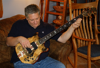 Trevor Lindsey with Alembic bass
