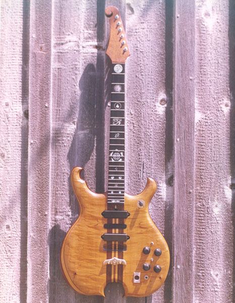 whole shot of Santana guitar
