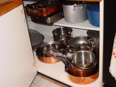 Saucepans, stovetop smoker, multi use pots, etc.