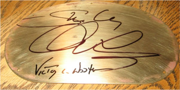 backplate signatures