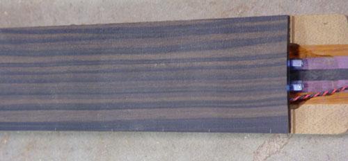 fingerboard detail