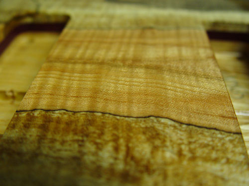spalted up so close