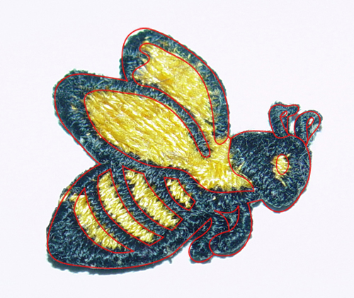line over patch