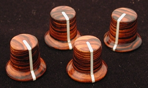 Cocobolo hat style knobs
