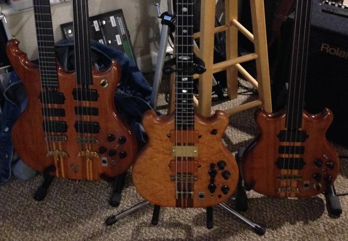 three 70s basses