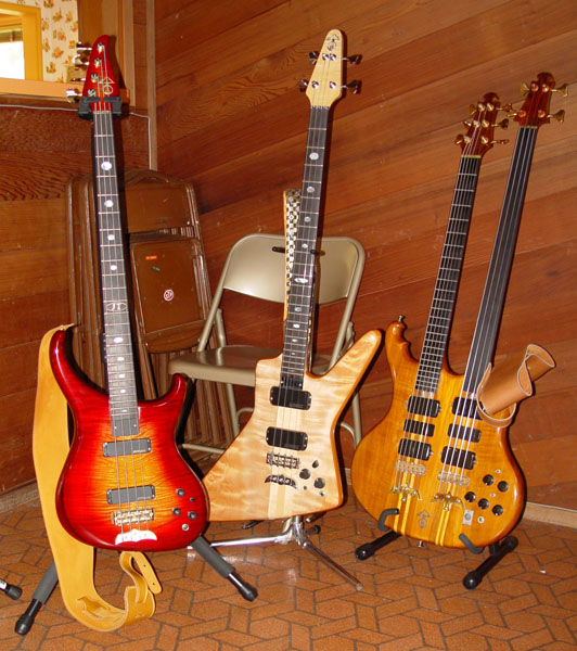 Erik and Harry's basses
