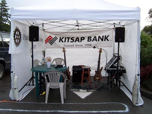 Saturday Market  stage- Poulsbo, WA